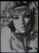 Pointillism Art - Eva by Joanna Aud