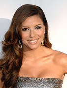 Dangly Earrings Framed Prints - Eva Longoria Parker At Arrivals For The Framed Print by Everett