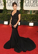 Evening Dress Framed Prints - Eva Longoria Wearing A Zac Posen Gown Framed Print by Everett