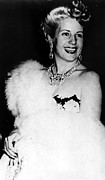 Fur Stole Prints - Eva Peron, Circa Late 1940s Print by Everett