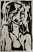 Woodcut Reliefs Posters - Eva Poster by Preston -