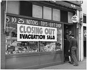 Dime Store Posters - Evacuation Sale Sign Poster by Everett