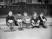 Evacuee Prints - Evacuees Print by Fox Photos