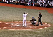 Evan Longoria - At The Plate Print by John Black