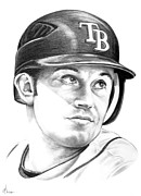 Baseball Originals - Evan Longoria by Murphy Elliott