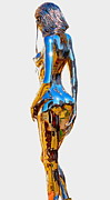 Steel Sculpture Metal Prints - Eve figure IV Metal Print by Greg Coffelt