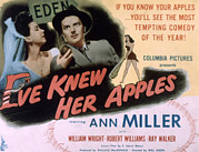 1945 Movies Framed Prints - Eve Knew Her Apples, Ann Miller Framed Print by Everett