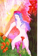 Puerto Rico Painting Metal Prints - Eve Metal Print by Maria Milagros Soto