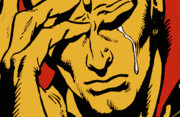 Pop Art Photo Prints - Even An Android Can Cry Print by Brian Middleton