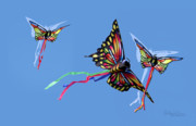 Kites Digital Art - Even Butterflies Have Guardian Angels by Anthony R Socci