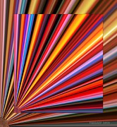 Action Lines Digital Art Metal Prints - Even Lines Get Colorful Metal Print by Fania Simon