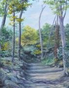 Paths Through Woods For Sale Paintings - Even the Trees Praise by Penny Neimiller
