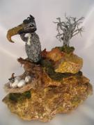 Mountain Sculpture Ceramics Originals - Even Vultures Can Love by Judy Byington