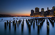 Y120817 Art - Evening At Brooklyn Bridge Park by Arnab Guha Photography