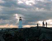 St Margaret Prints - Evening at Peggys Cove Print by John G Schickler