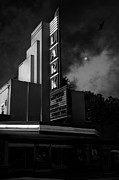 B-movie Art - Evening At The Lark - Larkspur California - 5D18484 - Black and White by Wingsdomain Art and Photography