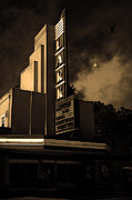 Old Theater Prints - Evening At The Lark - Larkspur California - 5D18484 - Sepia Print by Wingsdomain Art and Photography
