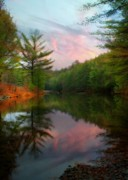 Orton Effect Prints - Evening at the Reservoir Print by Lori Deiter