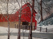 Winter Roads Originals - Evening Drive by Yvonne Breen