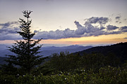 Cowee Prints - Evening Falls on the Blue Ridge Print by Rob Travis