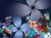 Large Digital Art - Evening Flowers by Ganesh Barad