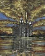 Saints Paintings - Evening Glory by Jeff Brimley