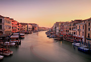 Venice Travel Prints - Evening Glow Print by John and Tina Reid