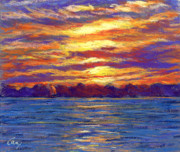 Boat Pastels Metal Prints - Evening Glow Metal Print by Michael Camp