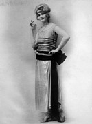 1920s Fashion Photos - Evening Gown Of Silvery Parisian Wool by Everett