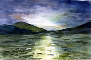 Cloud Drawings Originals - Evening in Alaska by Mindy Newman
