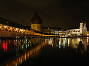 Lucerne Photo Posters - Evening In Luzern Poster by Al Bourassa