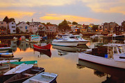 Motif 1 Posters - Evening in Rockport Poster by Joann Vitali