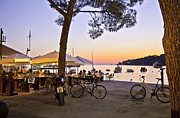 Rovinj Posters - Evening in Rovinj Poster by Madeline Ellis