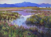Nevada Pastels Framed Prints - Evening in the Marsh Framed Print by Bonita Paulis