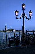 Lamp Post Framed Prints - Evening in Venice Framed Print by Traveler Scout