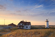 Cape Cod Metal Prints - Evening Light at Race Point Cape Cod National Seashore Metal Print by John Burk
