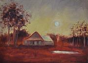 Outbuildings Painting Framed Prints - Evening Light Framed Print by Ginger Concepcion