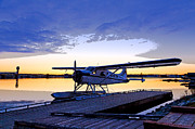 Beaver Digital Art Framed Prints - Evening Light on a DeHavilland Beaver- Abstract Framed Print by Tim Grams