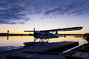 Air Traffic Control Tower Posters - Evening Light on a DeHavilland Beaver Poster by Tim Grams