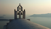 Evening Light Prints - Evening Light Santorini Print by Bob Christopher