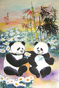 Naivety Framed Prints - Evening Love Story Framed Print by Lian Zhen