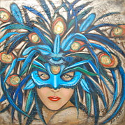 Image Painting Originals - Evening Masquerade by Lori McPhee