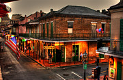 Street Sign Posters - Evening on Bourbon Poster by Greg and Chrystal Mimbs