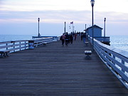 Evening On San Clemente Pier Print by Jim Vansant