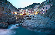 Manarola Posters - Evening on the Coast Poster by Mike Reid