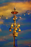 Sussex Digital Art Prints - Evening On The Seafront In Eastbourne Print by Chris Lord