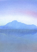 Evening Light Pastels Prints - Evening on the Water Print by Hakon Soreide