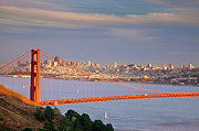 Golden Gate Framed Prints - Evening over San Francisco Framed Print by Brian Jannsen