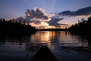 Boundary Waters Canoe Area Wilderness Posters - Evening Paddle on Spoon Lake Poster by Larry Ricker