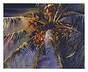 Moonlight Paintings - Evening Palm by Mike Hill